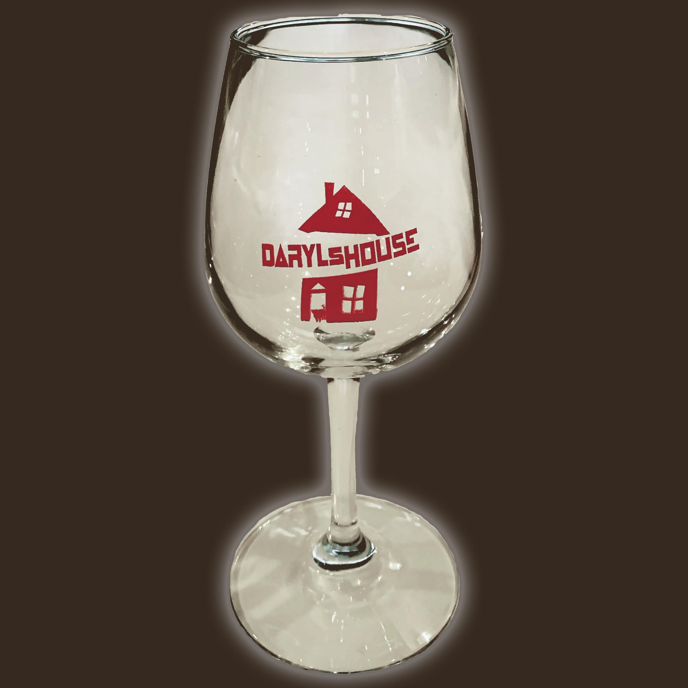 Daryl's House Logo Wine Glass